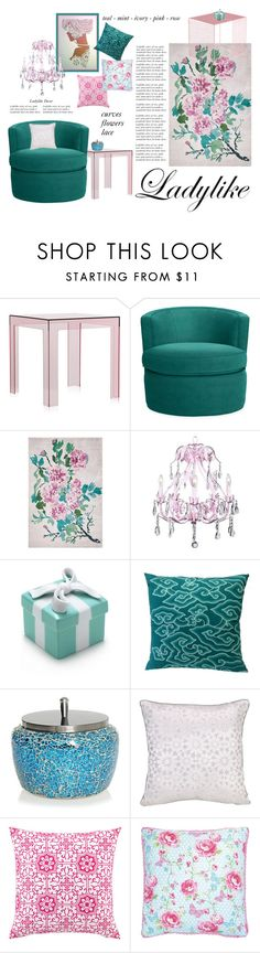 """Ladylike Home Decor"" by bluecatreview13 ❤ liked on Polyvore featuring interior, interiors, interior design, home, home decor, interior decorating, Kartell, Otis, Designers Guild and Universal Lighting and Decor"