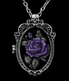 Restyle - Deadly Rose Hologram Gothic Locket Pendant / Brooch [RE-DEADLYROSE-LOCKET] - £9.89 :