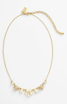 So dainty. Love this Kate Spade floral collar necklace.