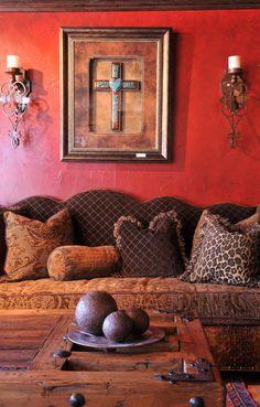 texturas y colores de inspiracin mexicana coloresqueinspiran western living roomsglazed wallsred - Western Wall Decor