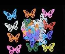 50pcs large Scrapbooking PUNCHIES Engraving Butterflies mixed cardstock