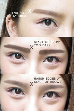 Korean Makeup Tutorial - Feminine Hanbok Makeup by Heizle - Korean Makeup Asian Makeup Tips, Makeup Guide, Korean Makeup, Eyebrow Images, Korean Tutorial, Korean Eyebrows, Straight Eyebrows, Circle Face, Ulzzang Makeup