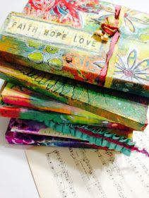 Cardboard-Crush-DIY-Upcycled-Repurposed-Painted-Stenciled-Journals