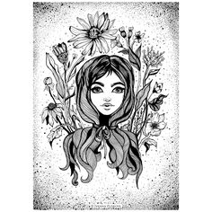 #Ivanna_Art  #blacknwhite #graphic #illustration #artwork #drawliner