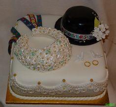 Torta s ľudovým motívom - cake with folk motifs
