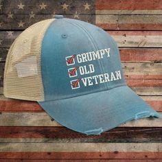 Grumpy old Veteran Trucker Hat