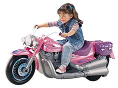 Mattel's Harley Davidson Pink Power Wheels..... my parents would totally buy this for my kids!