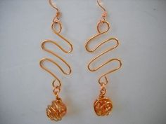 To The Moon And Back Copper WIRE WRAPPED Dangle by Beads4You2008,