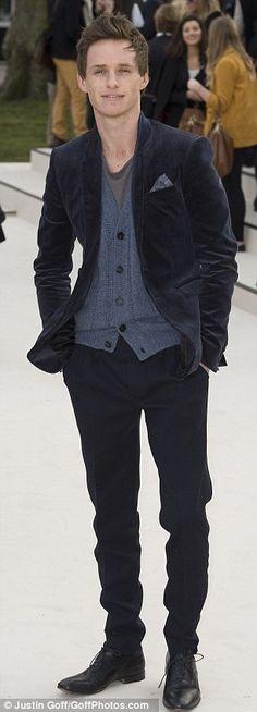 well dressed Eddie Redmayne, by Burberry