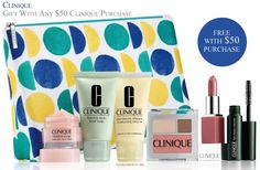 Spend $50 on Clinique or more at Saks to receive this Clinique gift. http://cliniquebonus.org/clinique-bonus-time/ Promo code is required.