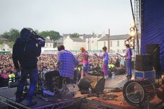 Wonder Villains perform Space Jam in front of a packed Ebrington Square
