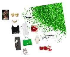 Green with envy by amandabaltaian on Polyvore featuring polyvore, beauty, Eddie Borgo, Oscar de la Renta, Dolce&Gabbana, Zara, Miu Miu and Gianvito Rossi