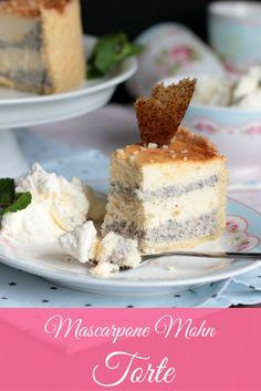 Super lecker - ein Käsekuchen mal ganz anders - eine wunderbare Mascarpone Mohn Torte