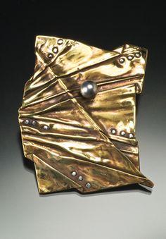 """Foldform """"leaf"""" brooch. Inspiration !"""