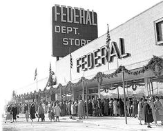 Federals Department Store, Detroit, Michigan, 1950's - I remember shopping with my mom at Federals in Saginaw, Michigan.