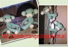 Tejiendo con Amigas: Monos sujeta cortinas patron