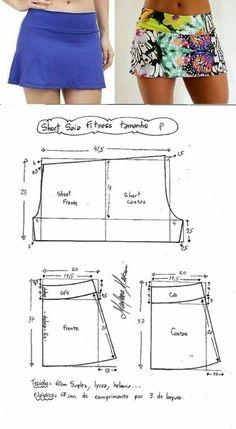 Modelo de falda shoo