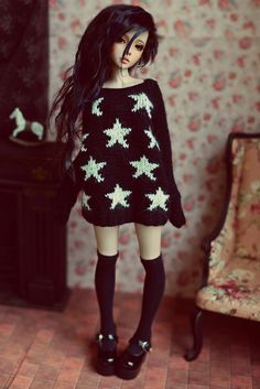 CandyDoll♥ knitted loose stars sweater for MSD on Flickr.