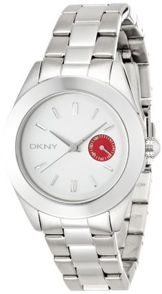 Women's watches    Where to buy  DKNY White and Red Dial Stainless Steel Ladies Watch NY2131