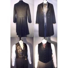 """Wow! """"Men's Frock Coats Single and Double Breasted & Two Vests Pattern (1850 - 1915)"""" $13.95"""