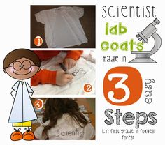 Scientist Labs Coats in 3 Easy Steps by First Grade in Foxwell Forest