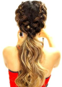 Dutch braid ponytail Keep it on the back of the head #beautytips #braids