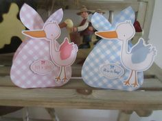 Stork Baby Bundle Favor Box Set of 12 by zbrown5 on Etsy