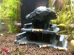 Garnelenhotel Nano Stone - Höhle Versteck Haus Aquarium Deko Krebse -