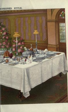 Table Setting. Mrs. Beeton's household management : a guide to...