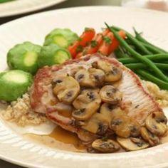 Pork steak, mushroom, vermouth