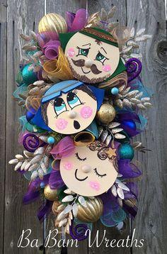 Jesus Wreath Christmas Swag Christmas Wreath by BaBamWreaths