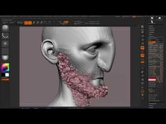 Creating short hair (Zbrush fibre mesh to maya workflow) Creating short hair (Zbrush fibre mesh to m Zbrush Tutorial, 3d Tutorial, Maya Video, 3d Polygon, Zbrush Hair, Sculpting Tutorials, Video Game Development, 3d Mesh, Sketchbook Pro
