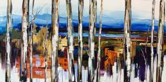Modern Interpretations, oil landscape painting by Kimberly Kiel | Effusion Art Gallery + Cast Glass Studio, Invermere BC Sky Painting, Painting For Kids, Dance Paintings, Landscape Paintings, Modern Art, Contemporary Art, Wedding Painting, Cast Glass, Mountain Paintings