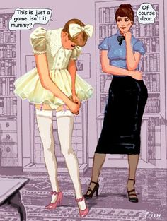 Yellow Sissy Maid