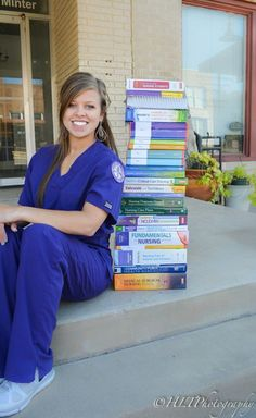 Senior Pictures Seniors College Seniors Nursing School HLTPhotography Photoshoot Senior Pictures Photoshoot Ideas Posing With School Books Great Idea Nursing Graduation Pictures, Nursing Pictures, Graduation Picture Poses, College Graduation Pictures, Nursing School Graduation, Graduation Photoshoot, Grad Pics, Graduation Ideas, Nursing Photography
