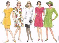 Vintage 1980's Sewing Pattern Vogue 2858 Dress Tunic & Skirt Uncut 14-18…