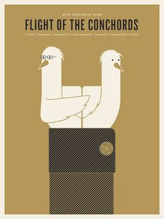 Flight of the Conchords 2012 poster by Jason Munn