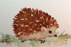 hedgehog painting images | Hedgehog