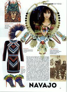 Olga & Oliver Magazine Italy - April 2015 - Turban by DONIA ALLEGUE www.doniaallegue.com