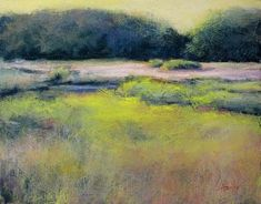 Pink on the Marsh by Lyn Asselta Pastel ~ 11 x 14 Soft Pastel Art, Pastel Drawing, Pastel Style, Soft Pastels, Paintings I Love, Seascape Paintings, Pastel Paintings, Oil Paintings, Pastel Landscape