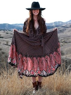 Free People Wrapped Paisley Dress, $168.00 if only paisley wasn't bad luck!