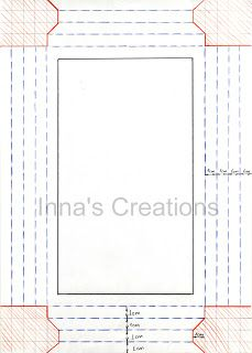 Inna's Creations website. Great idea for simple paper frames.