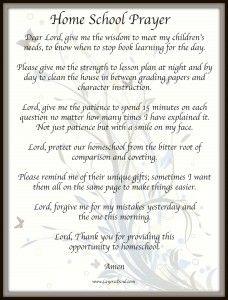 Free Printable: Homeschool Prayer