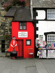 The Smallest House in Britain is in the beautiful city of Conwy, North Wales, UK