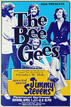 """BEE GEES Concert Poster Paramount Northwest  $8.00 • 100% Mint unused condition • Well discounted price + we combine shipping • Click on image for awesome view • Poster is 12"""" x 18"""" • Semi-Gloss Finish • Great Music Collectible - superb copy of original • Usually ships within 72 hours or less with tracking. • Satisfaction guaranteed or your money back.Go to: Sportsworldwest.com"""