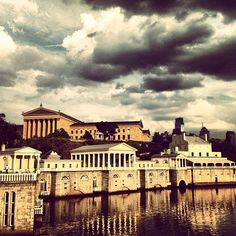 Gorgeous view!   View of the Philadelphia Art Museum from the Philadelphia Water Works Pier, Philadelphia, PA