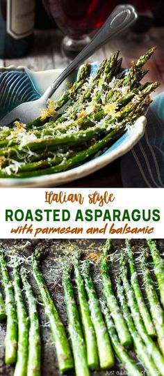 For an easy and quick side dish, make my oven roasted asparagus with parmesan! You'll love the crispy cheese, tender veggies, and a sprinkle of balsamic. Oven Roasted Asparagus, Parmesan Asparagus, Quick Side Dishes, Farmers Market Recipes, Little Bit, Spring Recipes, Mediterranean Recipes, Italian Recipes
