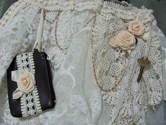 Vintage Shabby Purse Bag Make Over Boho by ThisOrThatVintage