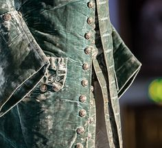 Sea green velvet coat 1749/50