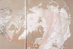 SAS Scandinavian Airlines long haul route map